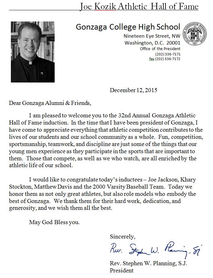 ahof - letter from Fr P