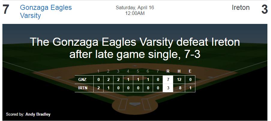 baseball - ireton win 4-16-16
