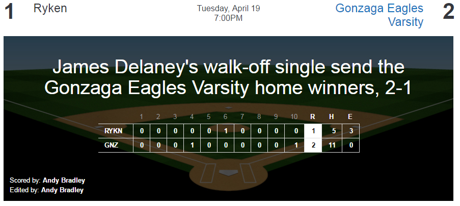 baseball - ryken win 4-19-16
