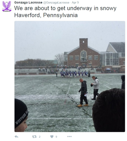 lacrosse vs haverford - april 9 2016 - tweet