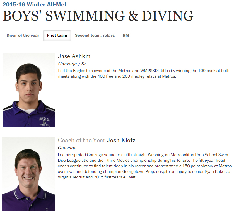 swim dive all met