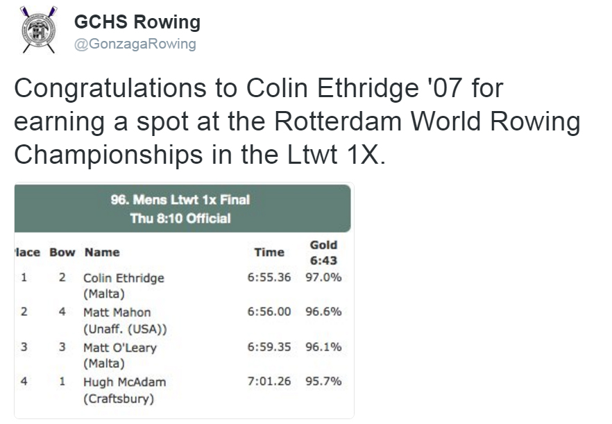 ethridge to represent USrowing